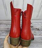 Ботинки демисезонные на удобном каблучке из натуральной кожи от производителя модель НИ304-7-3В, фото 3