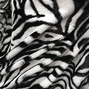Искусственный мех коротковорсовый зебра