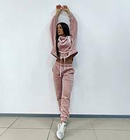 """Велюровый спортивный женский костюм """"VELYUR"""" с капюшоном (3 цвета)"""