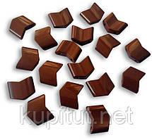 Звенья турманиевые для браслетов (М-23) поштучно, коричневые