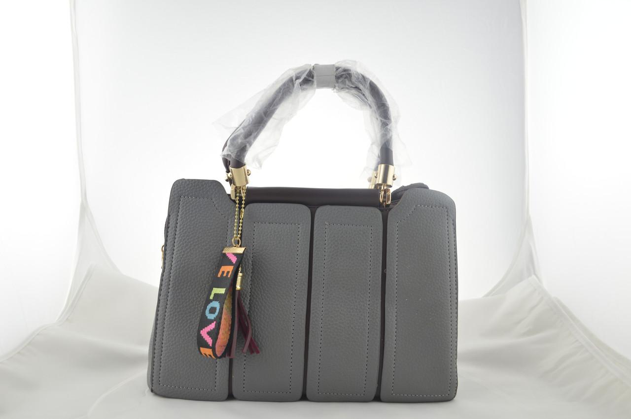Серая женская сумка из эко кожи сумочка