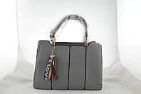 Серая женская сумка из эко кожи сумочка, фото 1