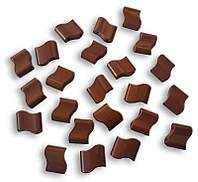 Звенья турманиевые для браслетов (М-32) поштучно коричневые