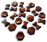 Звенья турманиевые для браслетов (М-34) коричневые россыпью (набор из 2 шт.)