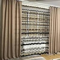 Готовый комплект плотных  штор с тюлем  недорого
