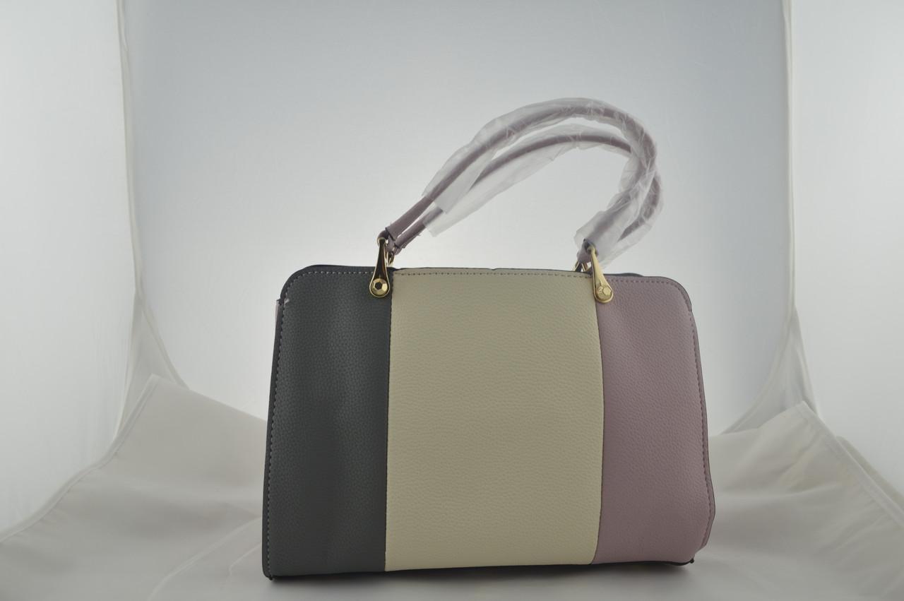 Женская сумка которая держит форму из эко кожи