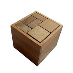 Деревянная головоломка Круть Верть Гала куб 6.5х7х7 см nevg-0024, КОД: 119410