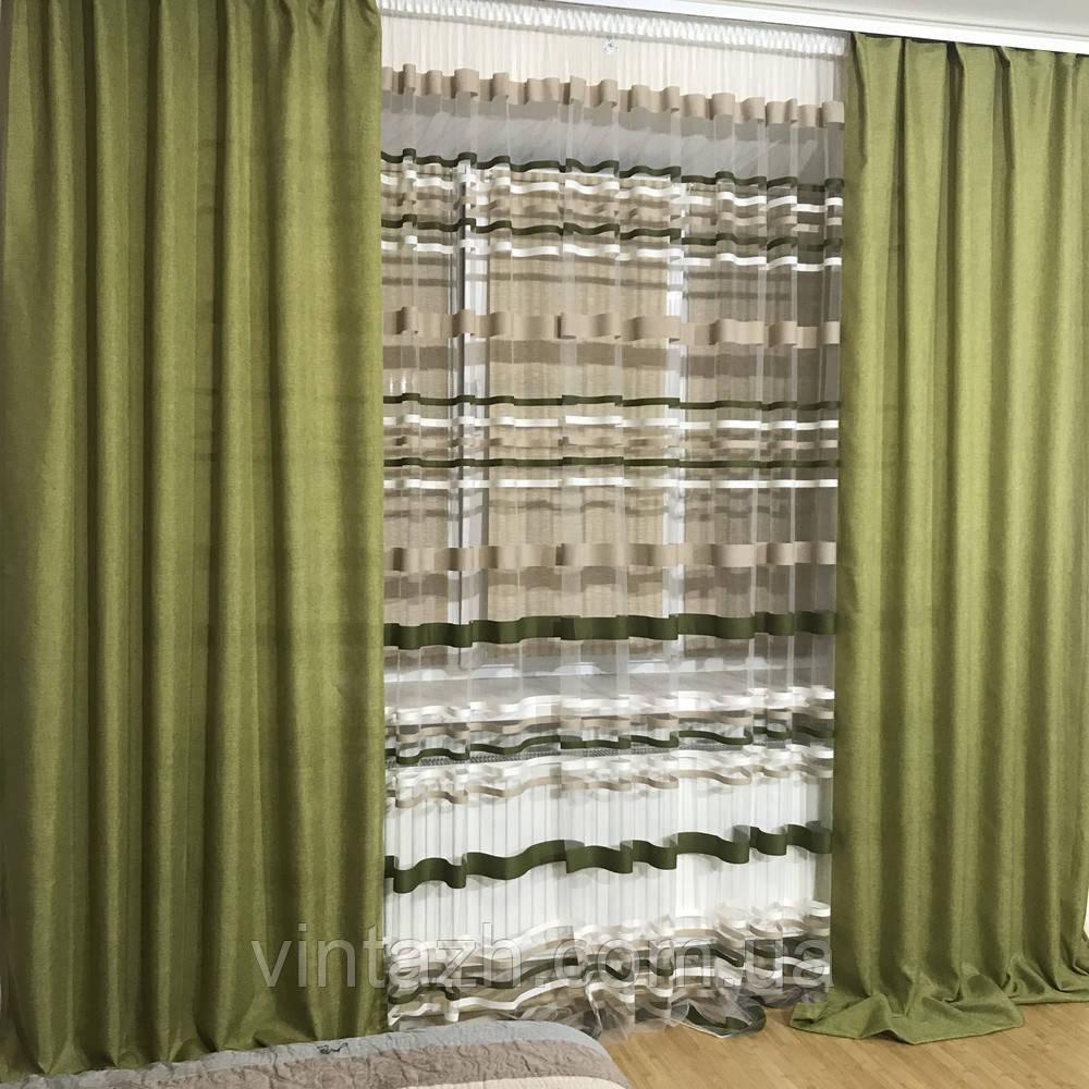 Тюль и шторы готовые в спальню купить недорого в Украине