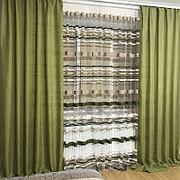 Тюль и шторы готовые в спальню купить недорого в Украине, фото 1