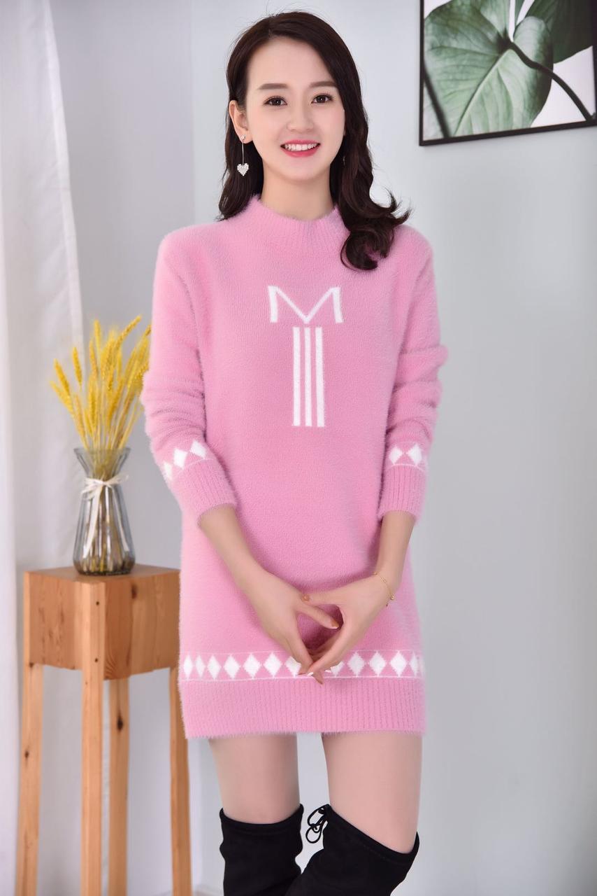 Короткая трикотажная туника-платье  42-46 (в расцветках)