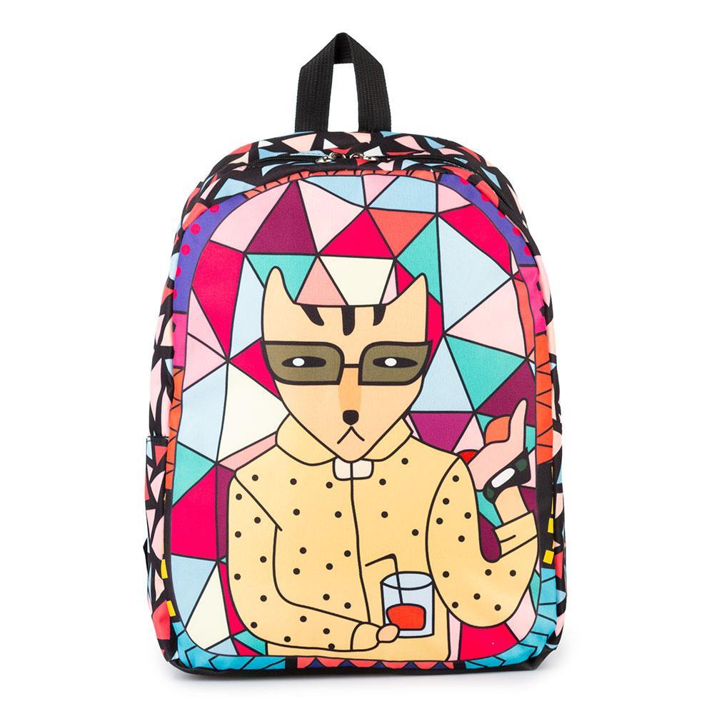 Молодежный оригинальный рюкзак Cool Cat (кот горошек)