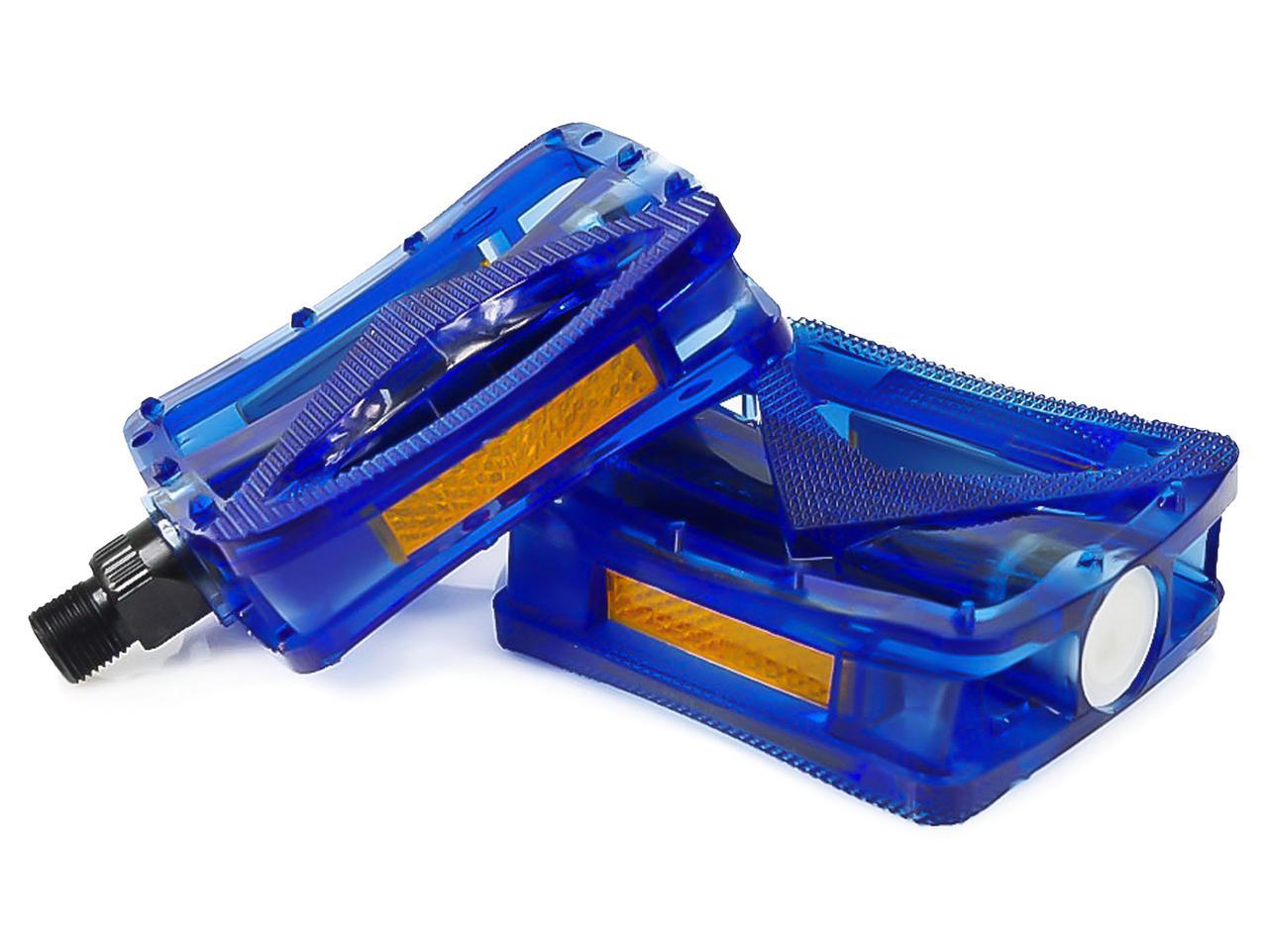 Платформенные педали JD185 синие