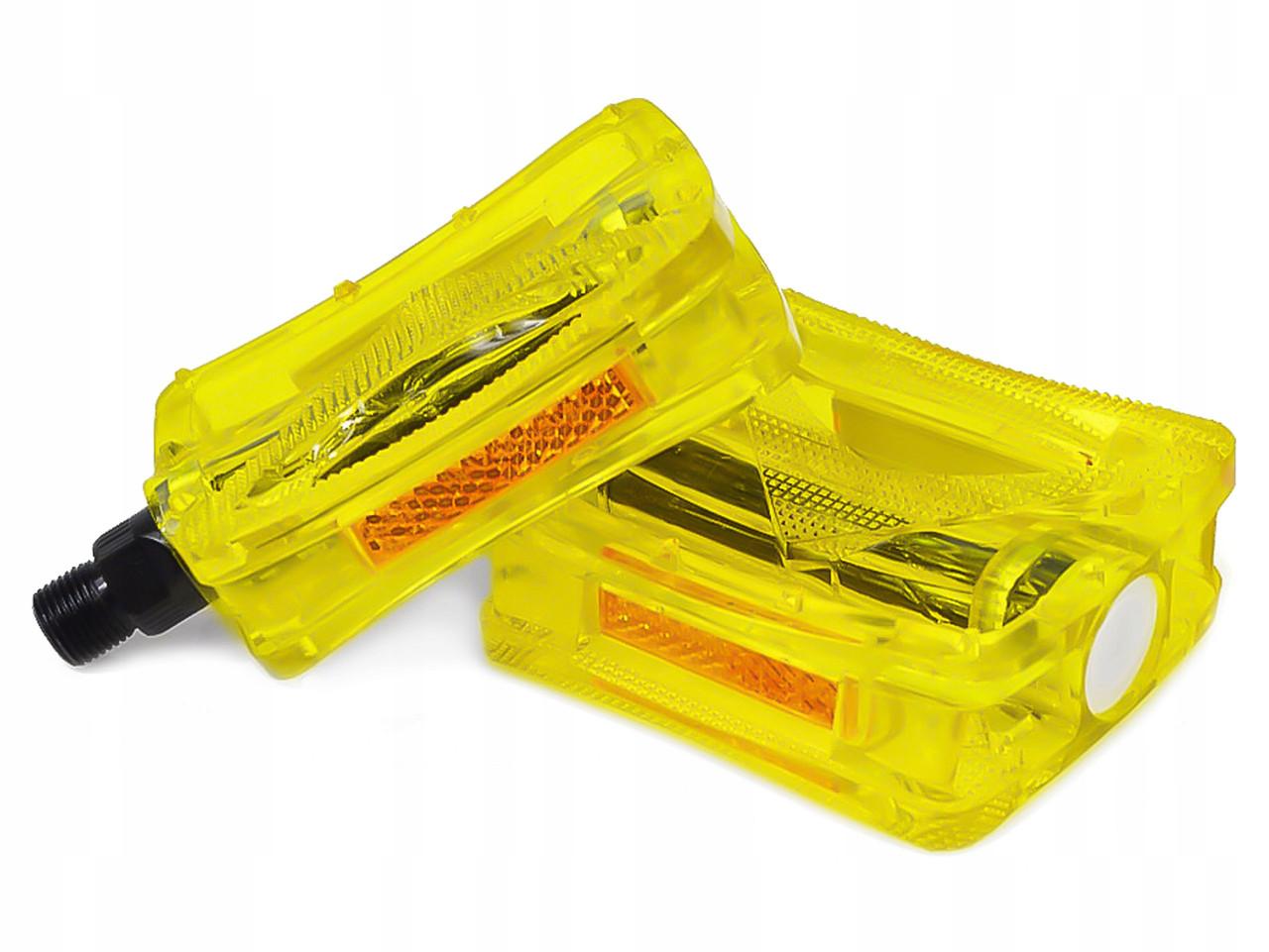 Платформенные педали JD185 желтые