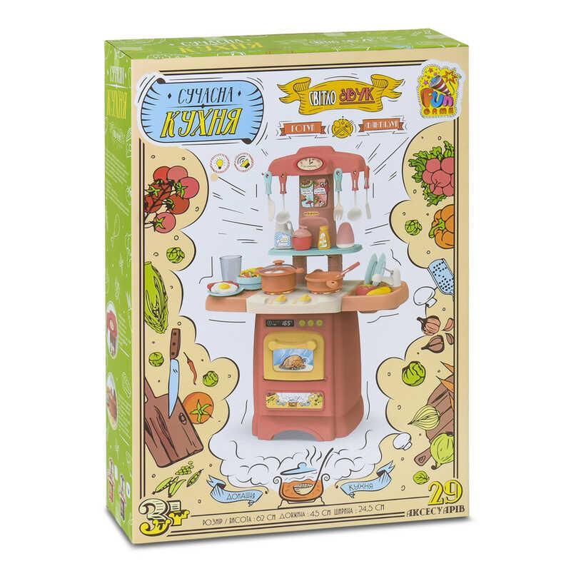 """Гр Ігровий набір """"Сучасна Кухня"""" 7425 (12) світло, звук, 29 аксесуарів, 2 кольори, """"FUN GAME"""""""