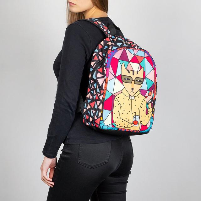 городской рюкзак кот