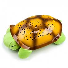 Музыкальный ночник-проектор, звездное небо черепашка Turtle Night Sky Green (ZOSTURTLE Green)