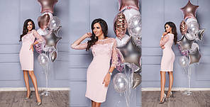 Платье сетка вышивка в расцветках 523106, фото 3