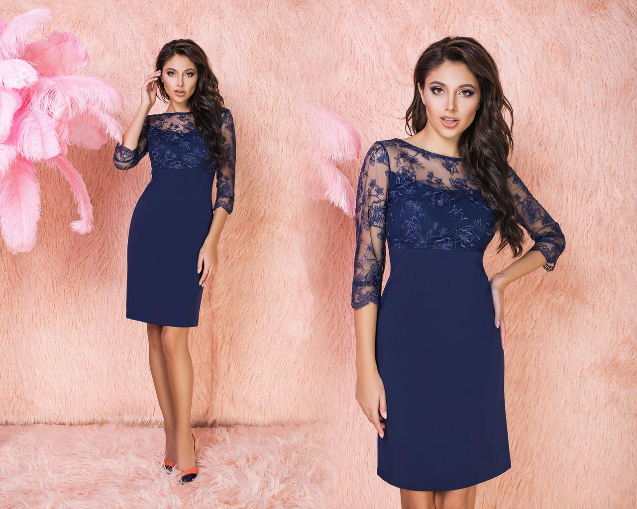 Сукня сітка вишивка в кольорах 523106