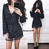 Платье Размеры С и М Ткань сеточка с паеткой и мягенький подклад.  Цвет золото и черный (21274), фото 3