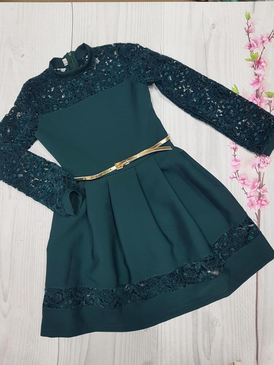 Подростковое нарядное платье для девочки  р.140-152 опт