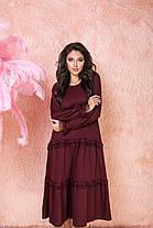Платье миди рюши в расцветках 523130, фото 2