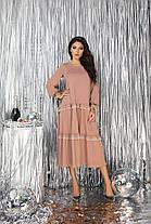 Платье миди рюши в расцветках 523130, фото 3
