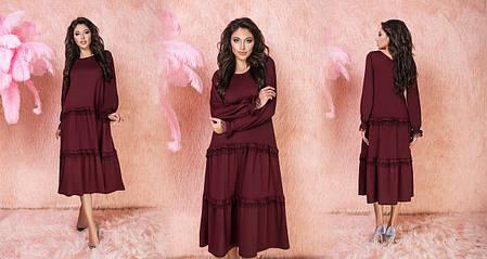 Сукня міді рюші в кольорах 523130, фото 2