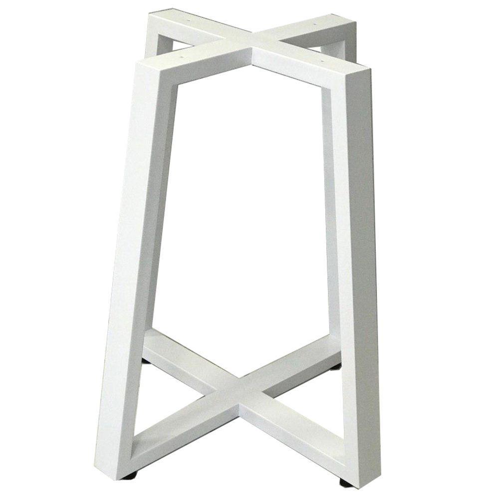 """Высокие белые металлические опоры """"X-TRACK"""" для круглых столов в кафе бар"""