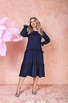 Сукня БАТАЛ вільний у кольорах 523130А, фото 2