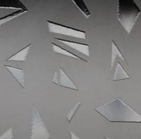 Узорчатое рифленное стекло Пирамида бронза 4мм