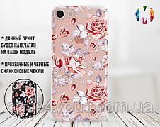 Силиконовый чехол для Samsung A105 Galaxy A10 Розовые розы (13016-3006)