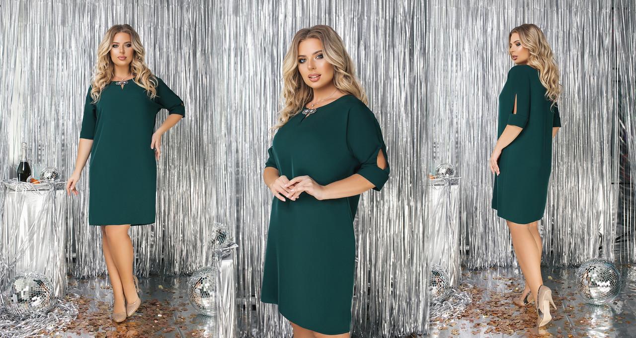 Платье  БАТАЛ прямое  в расцветках 523132А