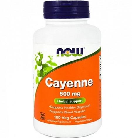 Кайенский перец NOW Cayenne 500 мг - 100 веган капс