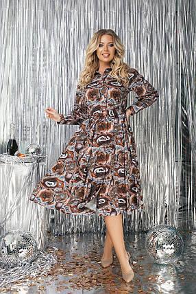 Сукня сорочка БАТАЛ міді 523133А, фото 2