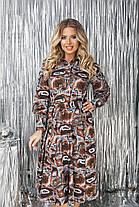 Платье рубашка  БАТАЛ миди 523133А, фото 2