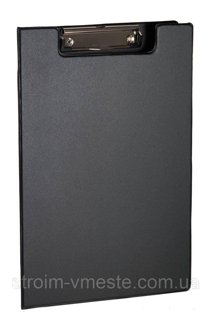 Папка планшет А4 с зажимом 4OFFICE 4-258 PVC черная