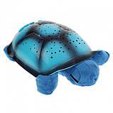 Музыкальный ночник-проектор, звездное небо черепашка Turtle Night Sky Blue (ZOSTURTLE Blue), фото 4