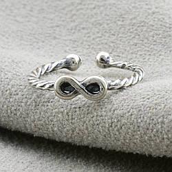 Серебряное кольцо на фалангу Бесконечность вес 1.0 г