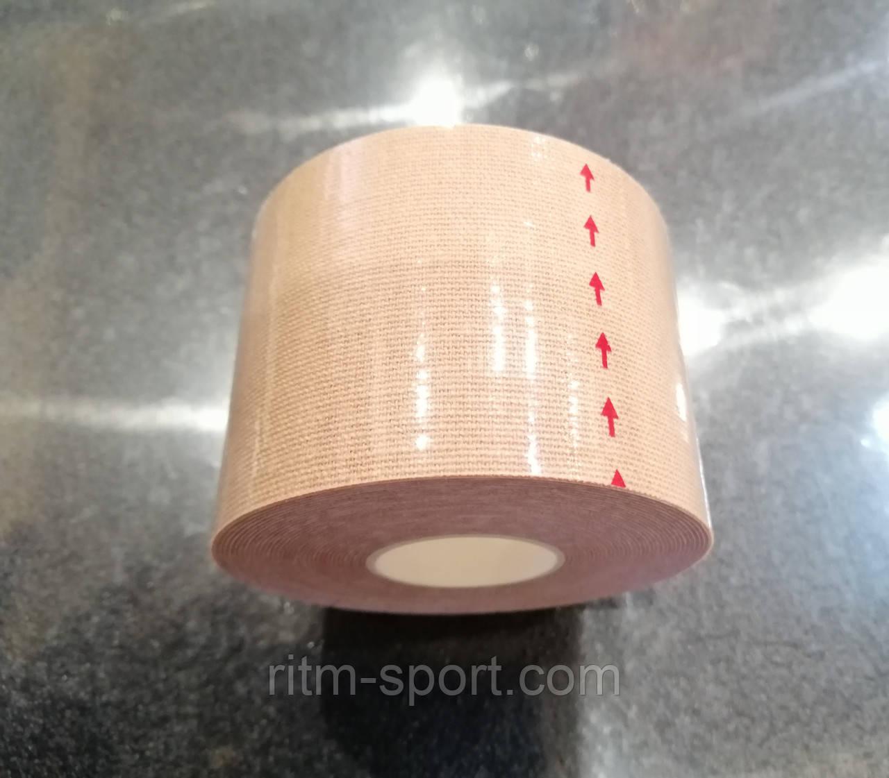 Кинезио тейп бежевый для тела, лица и шеи (5 * 500 см)