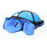 Музыкальный ночник-проектор, звездное небо черепашка Turtle Night Sky Blue (ZOSTURTLE Blue), фото 3