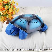 Музыкальный ночник-проектор, звездное небо черепашка Turtle Night Sky Blue (ZOSTURTLE Blue)