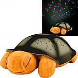Музыкальный ночник-проектор, звездное небо черепашка Turtle Night Sky Yellow (ZOSTURTLE песочная), фото 6