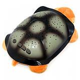 Музыкальный ночник-проектор, звездное небо черепашка Turtle Night Sky Yellow (ZOSTURTLE песочная), фото 2