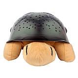 Музыкальный ночник-проектор, звездное небо черепашка Turtle Night Sky Yellow (ZOSTURTLE песочная), фото 5