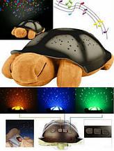 Музыкальный ночник-проектор, звездное небо черепашка Turtle Night Sky Yellow (ZOSTURTLE песочная)