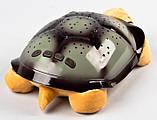 Музыкальный ночник-проектор, звездное небо черепашка Turtle Night Sky Yellow (ZOSTURTLE песочная), фото 3