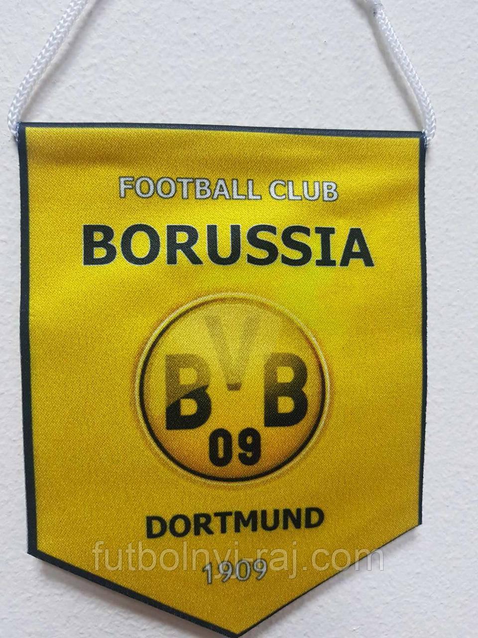 """Вимпел тканинній """"Євро клуби"""" FC Borussia Dortmund р. 13*11 див."""