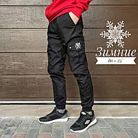 Теплые зимние мужские карго штаны брюки Rextim , Ястребь утеплённые