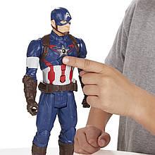 Интерактивная игрушка Марвел Капитан Америка + Щит 30см - Captain America Titans, Hasbro
