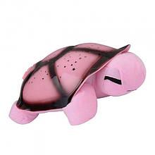 Музыкальный ночник-проектор, звездное небо черепашка Turtle Night Sky Pink (ZOSTURTLE розовая)